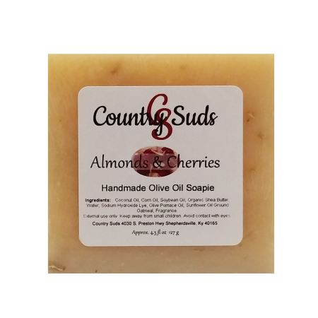 Almonds and Cherries Olive Oil Soapie