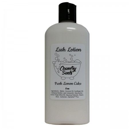 Fresh Lemon Cake 8oz Lush Lotion