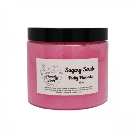 Pretty Plumeria 16oz Sugary Scrub