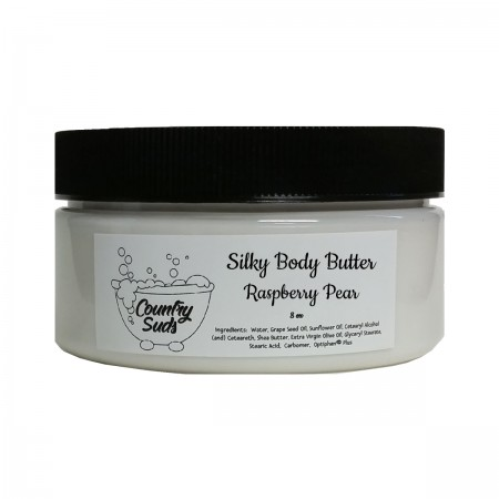 Raspberry Pear 8oz Silky Body Butter