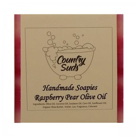 Raspberry Pear Olive Oil Soapie