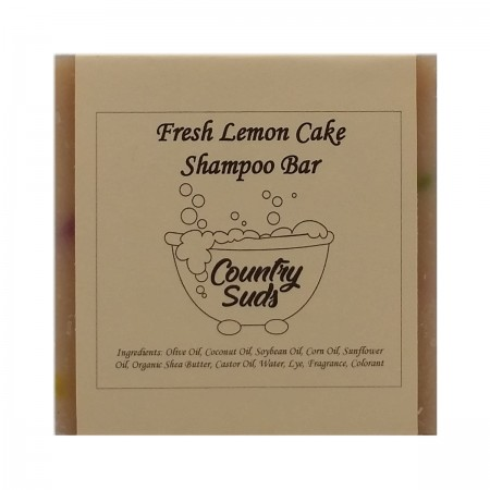 Fresh Lemon Cake Shampoo Bar