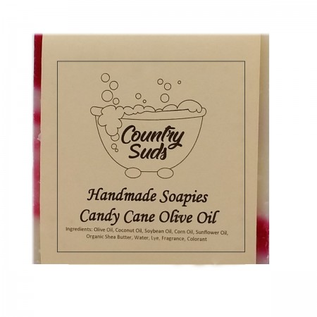 Candy Cane Olive Oil Soapie